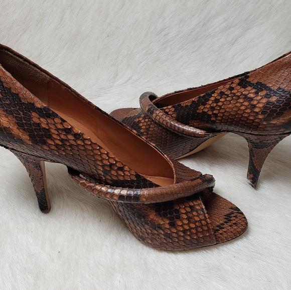 Givenchy Snakeskin Open Toe Stilettos Major Sexy!